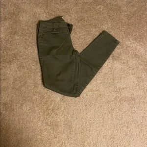 Olive Green High Waisted Skinny Jeans